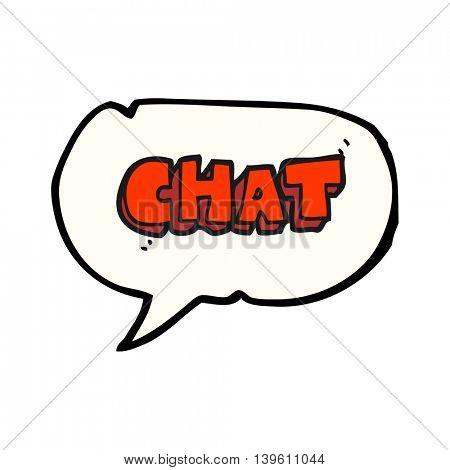 freehand drawn speech bubble cartoon chat symbol