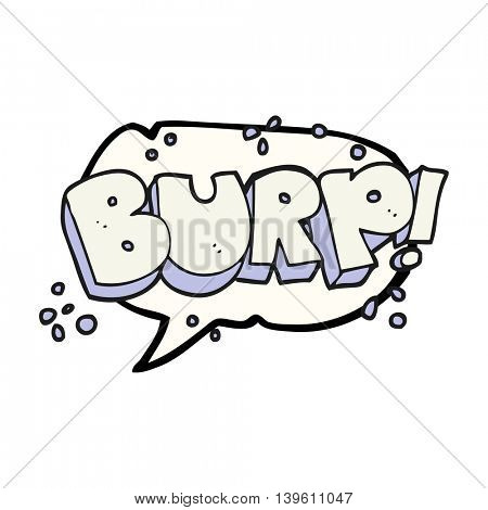 freehand drawn speech bubble cartoon burp text
