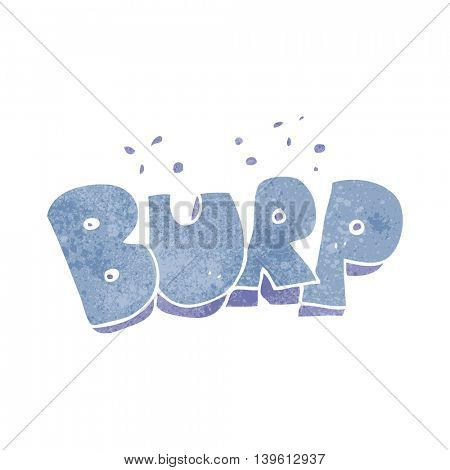 freehand retro cartoon burp text