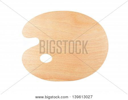 New wooden palette isolated on white background