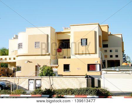 Residential houses in quarter Neve Rabin in Or Yehuda Israel