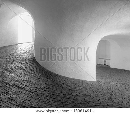 inside of the Rundetaarn in Copenhagen the capital city of Denmark