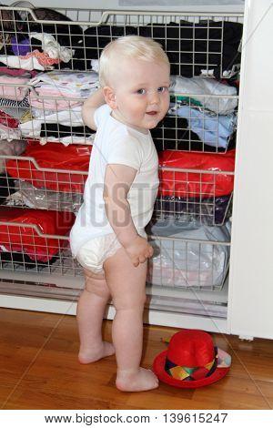 ten month  baby blonde boy