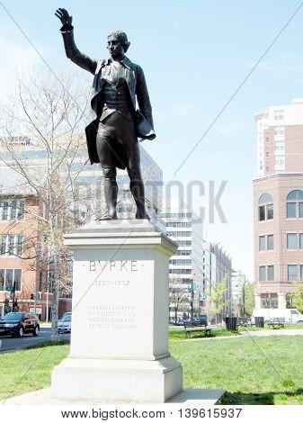 The Edmund Burke Statue in Washington DC USA