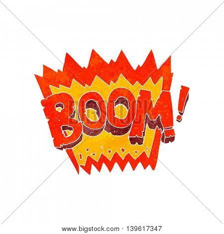 freehand retro cartoon boom symbol