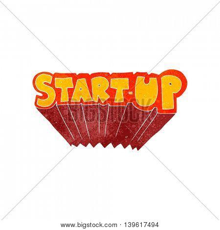 freehand retro cartoon startup symbol