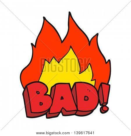 freehand drawn cartoon Bad symbol