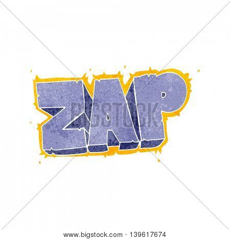 freehand retro cartoon zap symbol