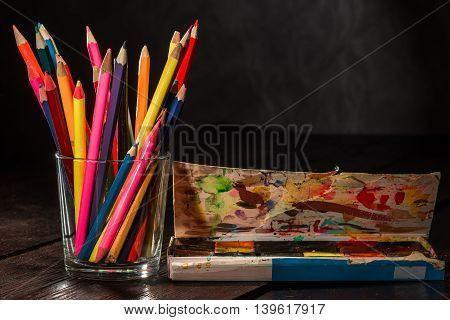 Crayons And Watercolor