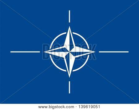 Vector NATO flag