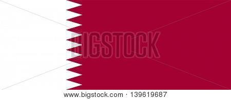 Vector State of Qatar flag