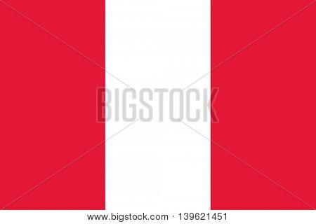 Vector Republic of Peru flag
