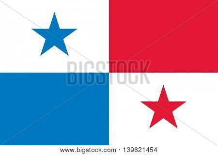 Vector Republic of Panama flag