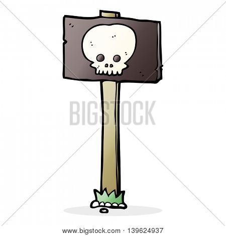 spooky sign post cartoon
