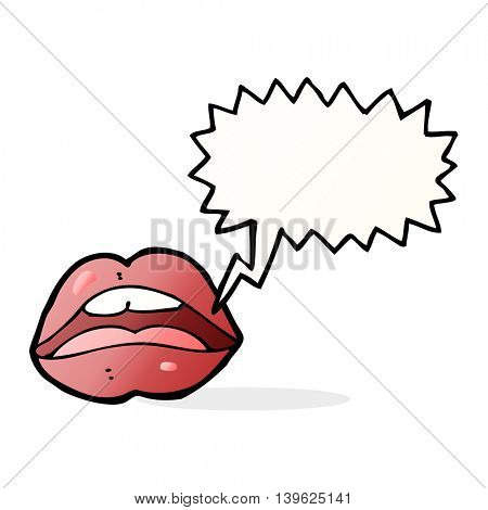 open mouth cartoon symbol with speech bubble