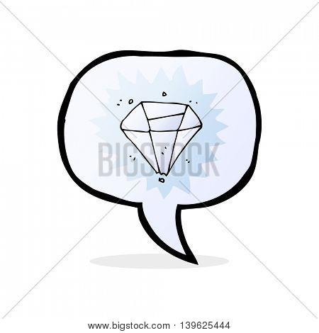 cartoon diamond with speech bubble