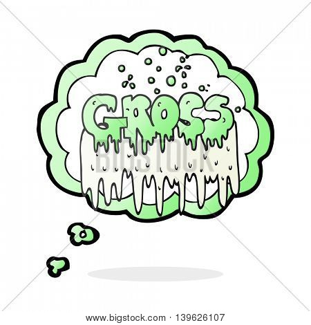 freehand drawn thought bubble cartoon gross symbol