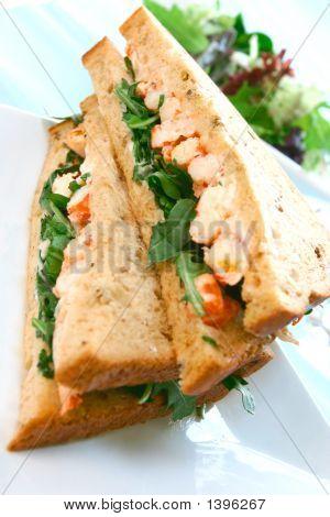Delicious Crayfish/King Prawn Sandwich