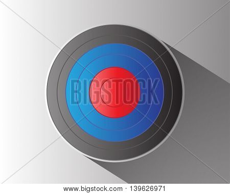 Archery target on gray background vector illustration