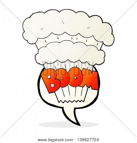 freehand drawn speech bubble cartoon explosion