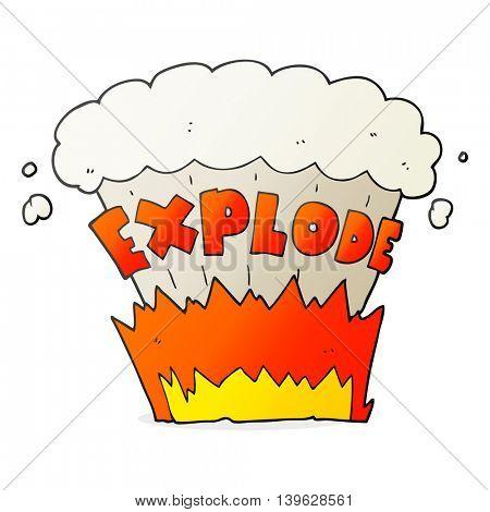 freehand drawn cartoon explosion