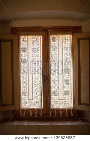 Intricate Lace Curtain