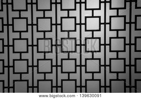 Background patterns on glass black and white vignette.