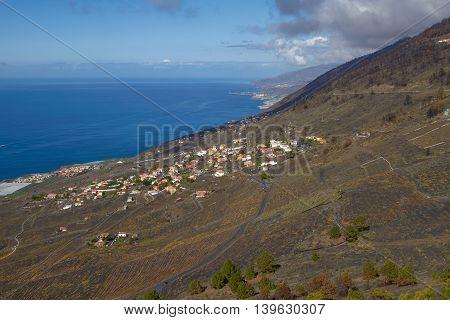 View Of Village From San Antonio Volcano On Las Palmas At Canary Islands