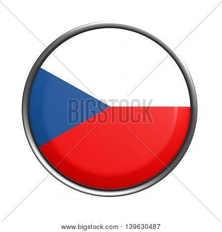 Button With Czech Rep Flag