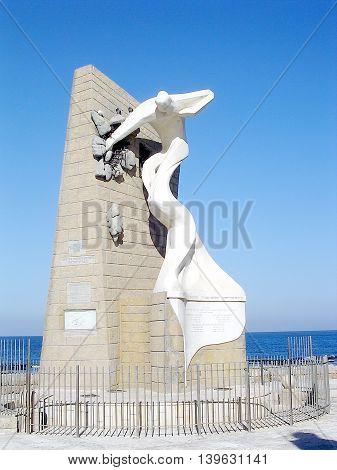 Memorial to Prison break in Akko Israel