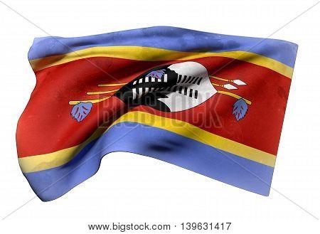 Kingdom Of Swaziland Flag Waving