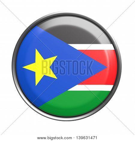 Silhouette Of South Sudan Button