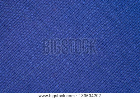big Blue linen seamless texture in close-up (texture pattern for continuous replicate)