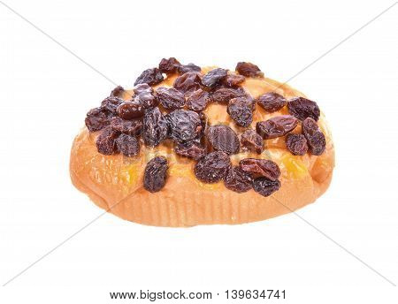 bread with currant mayonnaise on white background.