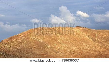 Crater View Of Montana Roja In Playa Blanca