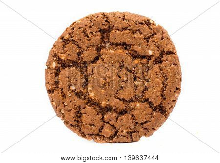 chocolate biscuits cookies isolated on white background