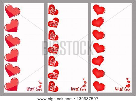 Greeting cards. It can be used for declarations of love as a decoration for the wedding menu price cards discount cards romantic stores and other