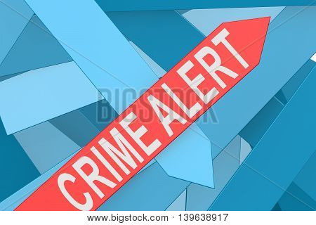 Crime Alert Arrow Pointing Upward