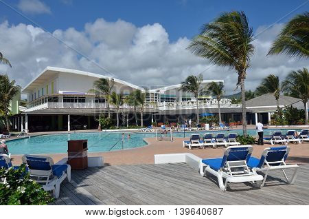 ST LUCIA CARIBBEAN 23 January 2015: Holiday complex in caribbean island of st lucia