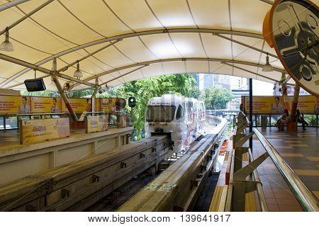 Monorail In Kuala Lumpur, Malaysia.