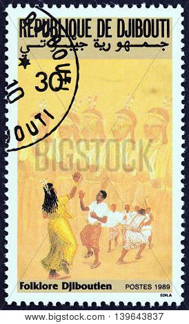 DJIBOUTI - CIRCA 1989: A stamp printed in Djibouti from the