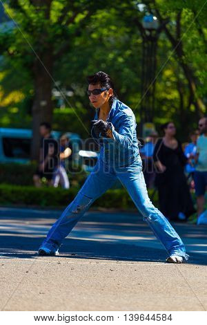 Rockabilly Dancing Man Pose Jean Yoyogi Park Tokyo