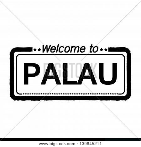 an images of Welcome to PALAU illustration design