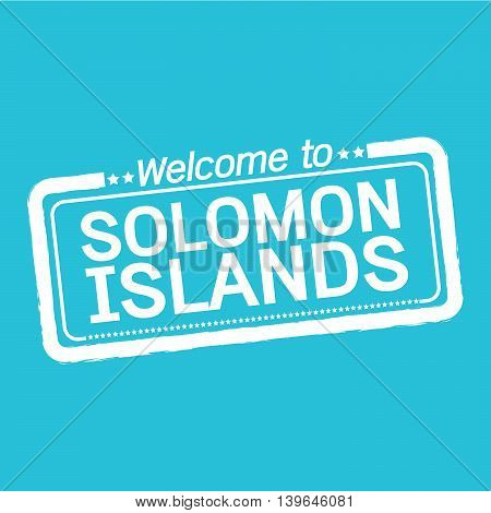 an images of Welcome to SOLOMON ISLANDS illustration design