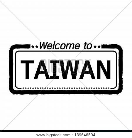 an images of Welcome to TAIWAN illustration design