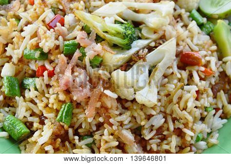 fried rice with fermented pork and vegetable