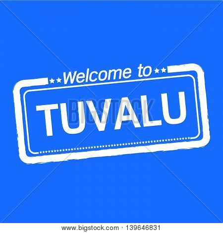 an images of Welcome to TUVALU illustration design