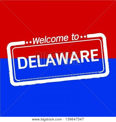 Welcome to DELAWARE of US State illustration design