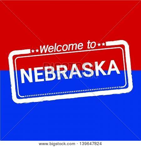 Welcome to NEBRASKA of US State illustration design