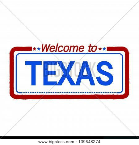 Welcome to TEXAS of US State illustration design